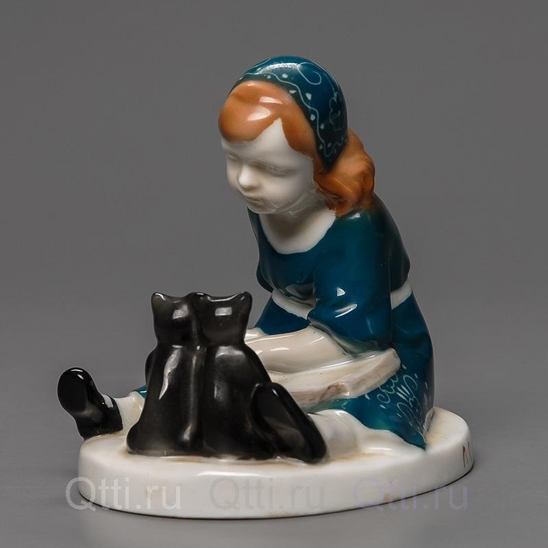 "Статуэтка ""Девочка и кошки"", Rosenthal"