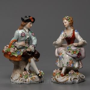 """Статуэтка """"Дама и Кавалер"""", Sitzendorf"""