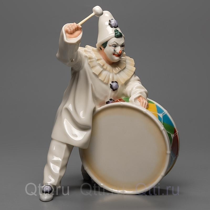 """Статуэтка """"Клоун с барабаном"""" Hutschenreuther"""