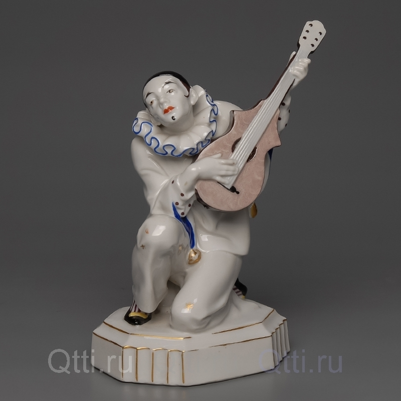 "Статуэтка ""Пьеро с гитарой"", Katzhutte"
