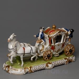 "Cтатуэтка ""Карета с лошадьми"", Unterweissbach"