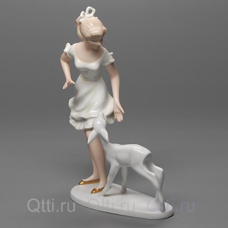 """Статуэтка """"Девушка и оленёнок"""" Wallendorf"""