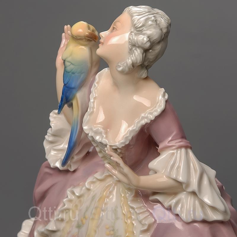 """Статуэтка """"Дама с попугаем"""", Karl Ens"""