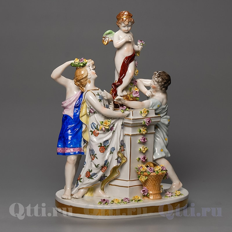 """Статуэтка из фарфора """"Обращение к Ангелу"""" Ludwigsburg Германия"""