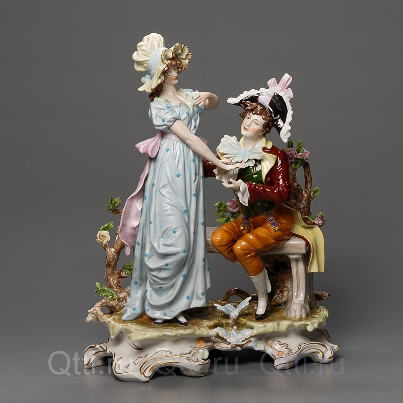 "Статуэтка ""Дама и кавалер"", Scheibe-Alsbach"