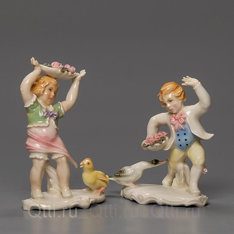 """Статуэтка """"Дети и птицы"""", Karl Ens"""