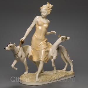 "Статуэтка ""Девушка с собаками"", Hutschenreuther"