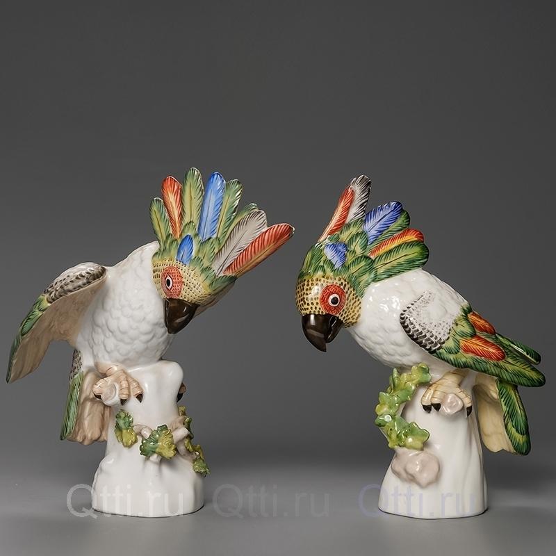 """Статуэтка """"Попугай Джейсон и Джордж"""", Nymphenburg"""