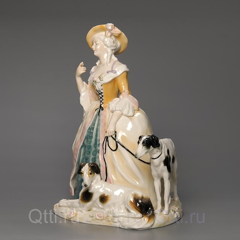 """Статуэтка """"Дама с собаками"""", Karl Ens"""