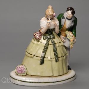 """Статуэтка """"Дама и Кавалер"""", Ludwigsburg"""