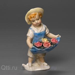 """Статуэтки """"Девочка с цветами"""", Karl Ens"""