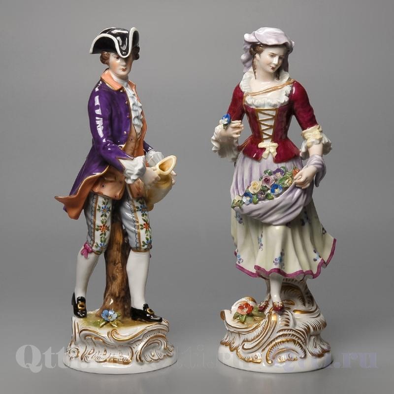 """Статуэтка """"Дама и кавалер"""" Volkstedter"""