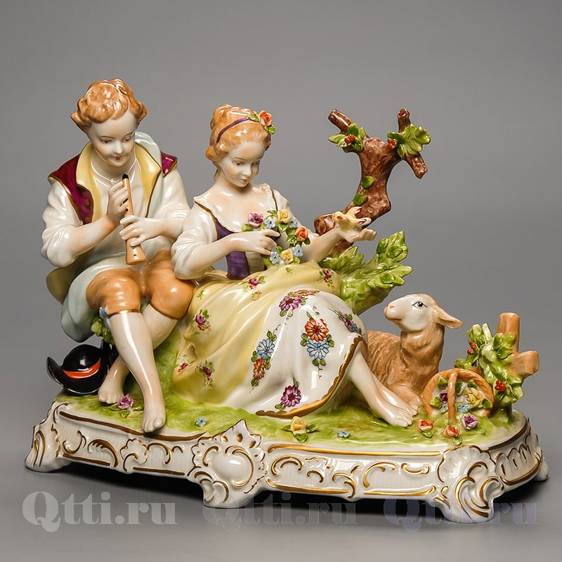 "Статуэтка ""Дама и кавалер"", Unterweissbach"