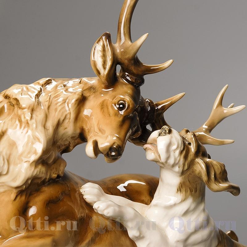 """Статуэтка """"Олень и собака"""" Hutschenreuther"""