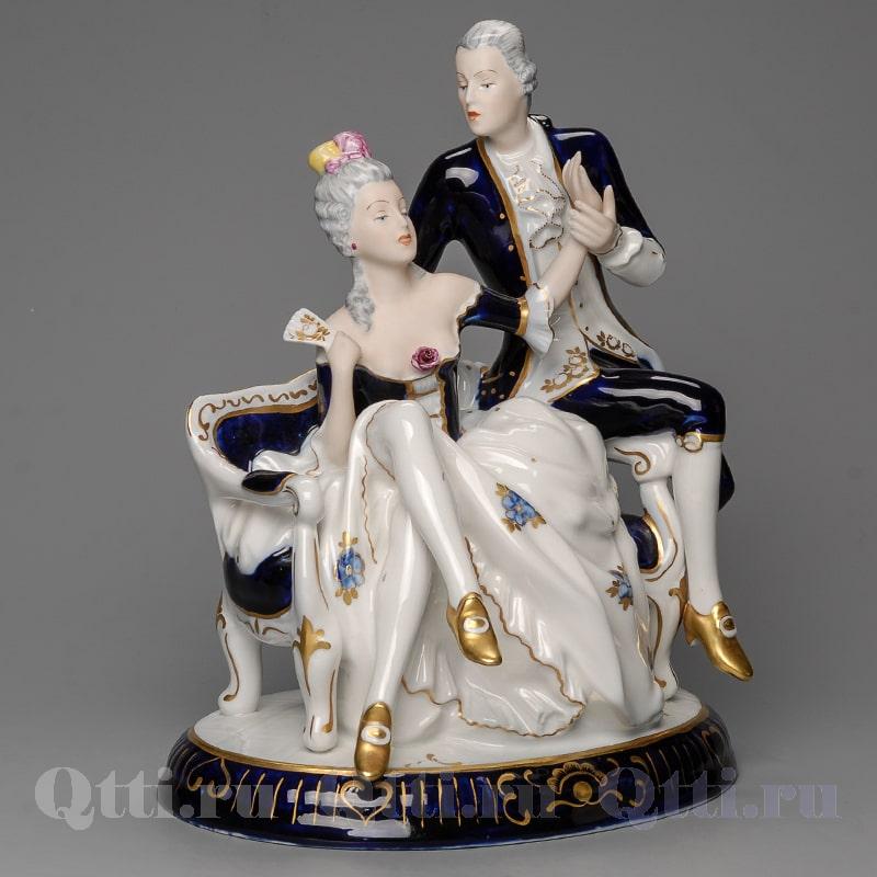 """Статуэтка из фарфора """"Дама Паолина и кавалер Джерт""""  Royal Dux Чехия"""