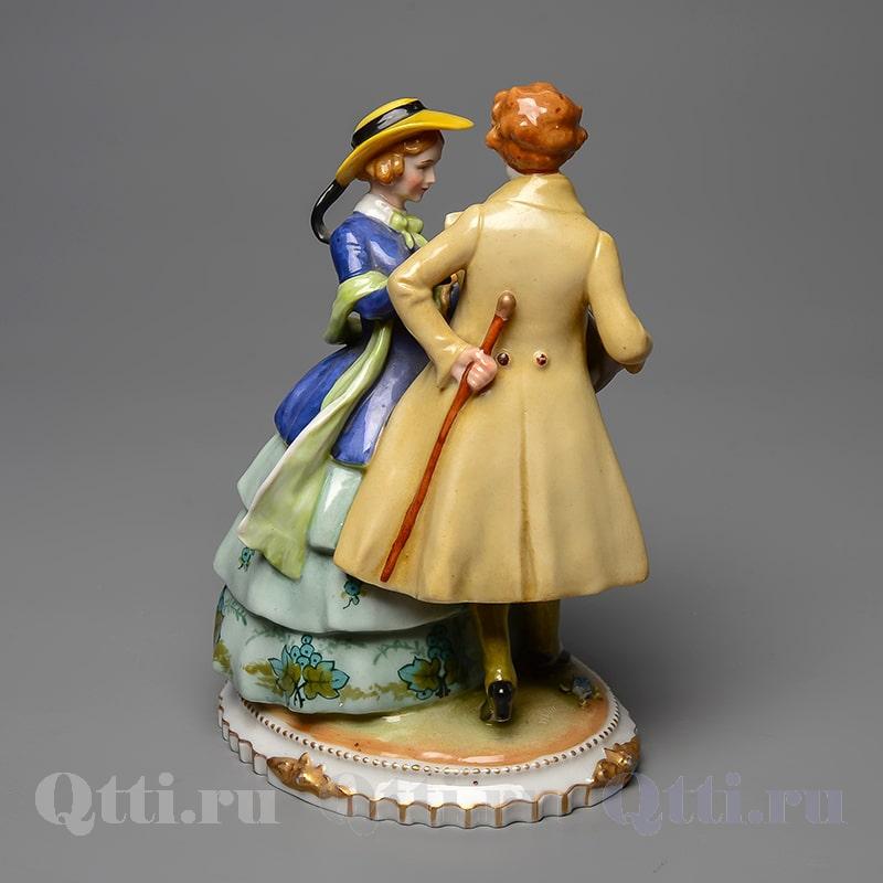 Фарфоровая статуэтка Дама и Кавалер E.& A. Müller Германия