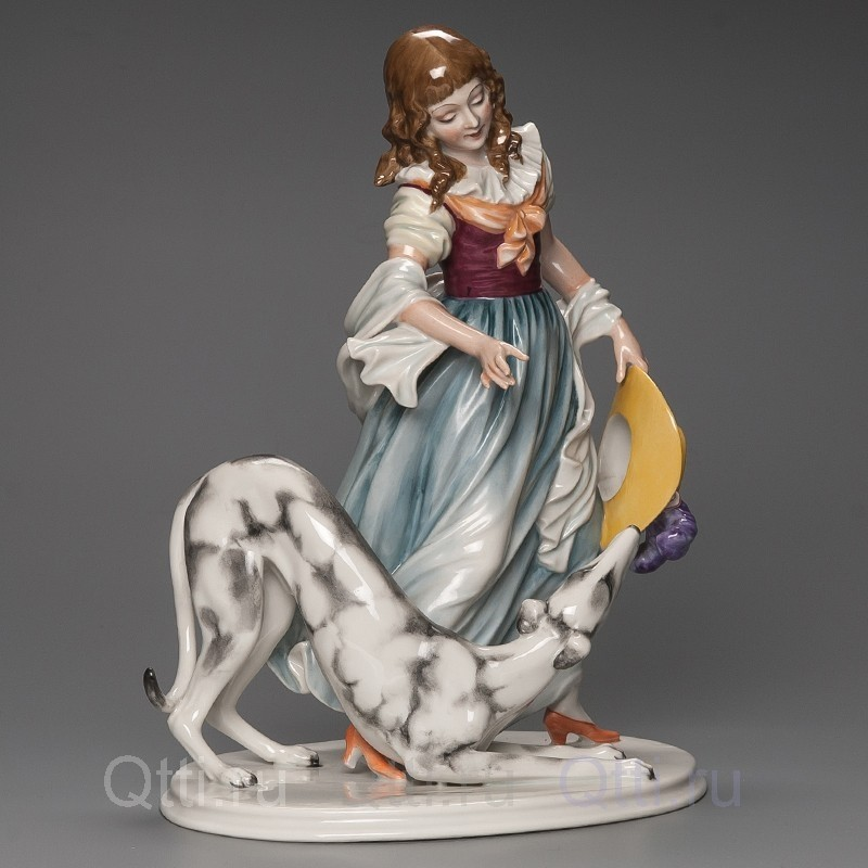 """Статуэтка """"Дама с собачкой"""", Германия"""